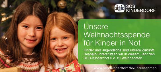 SWB-Weihnachtsengel 2017, Stahlwerke Bochum GmbH Spende SOS-Kinderdorf zu Weihnachten 2017 und Naujahr 2018