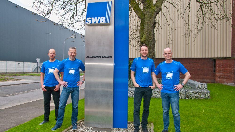 SWB-Firmenstaffel Metro Marathon 2019 vor der Hauptverwaltung der Stahlwerke Bochum GmbH