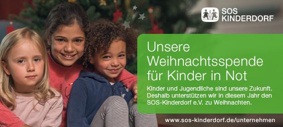 Weihnachtsspende Stahlwerke Bochum GmbH für SOS Kinderdorf