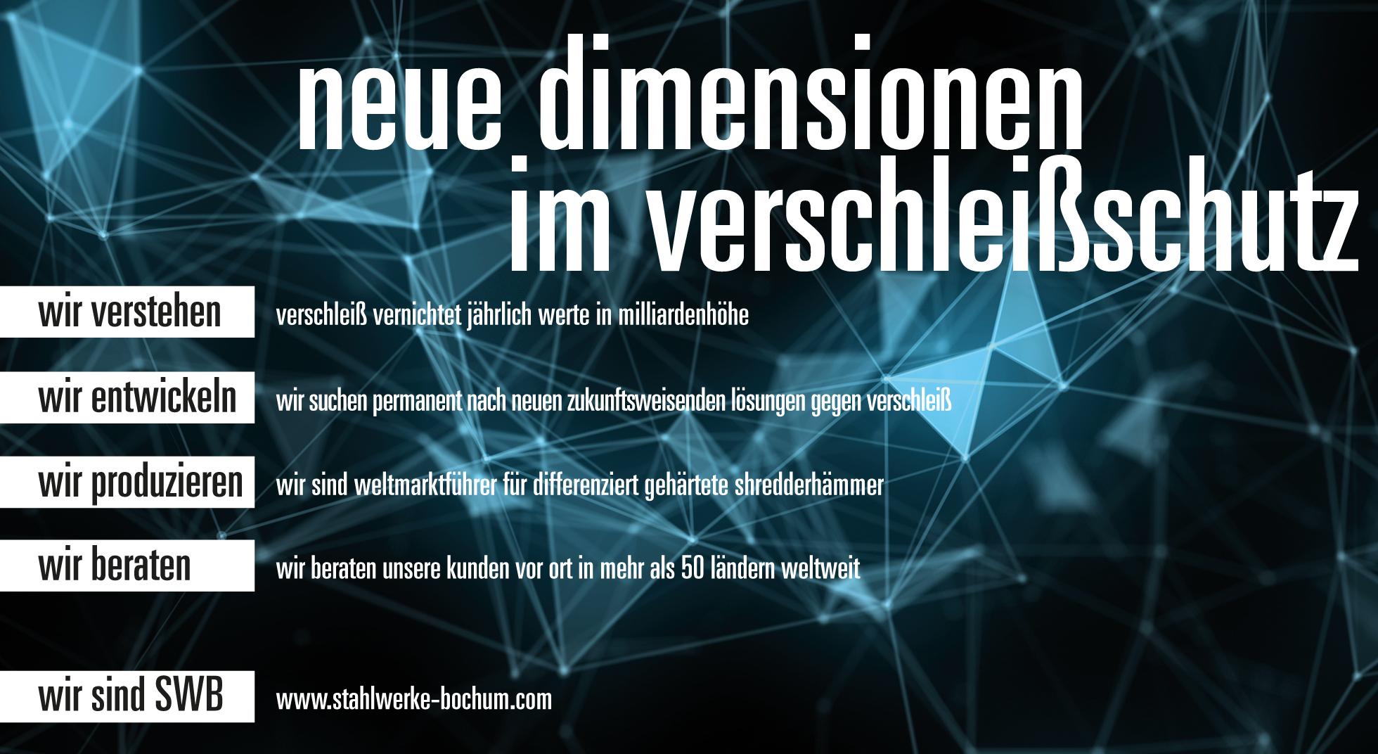 neue dimensionen im verschleißschutz - vier dimensionen werden vorgestellt