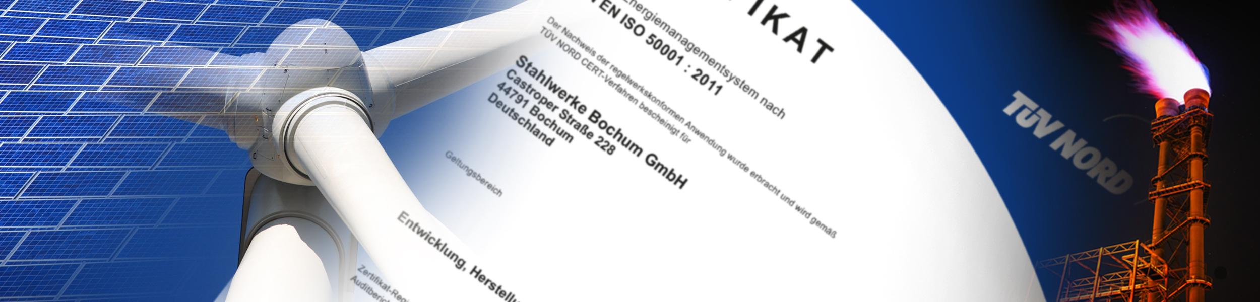 Energiepolitik - Titelbild zeigt Ausschnitt Zertifikat